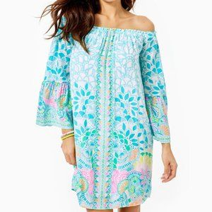 Lilly Pulitzer Nevie Off-The-Shoulder Dress S